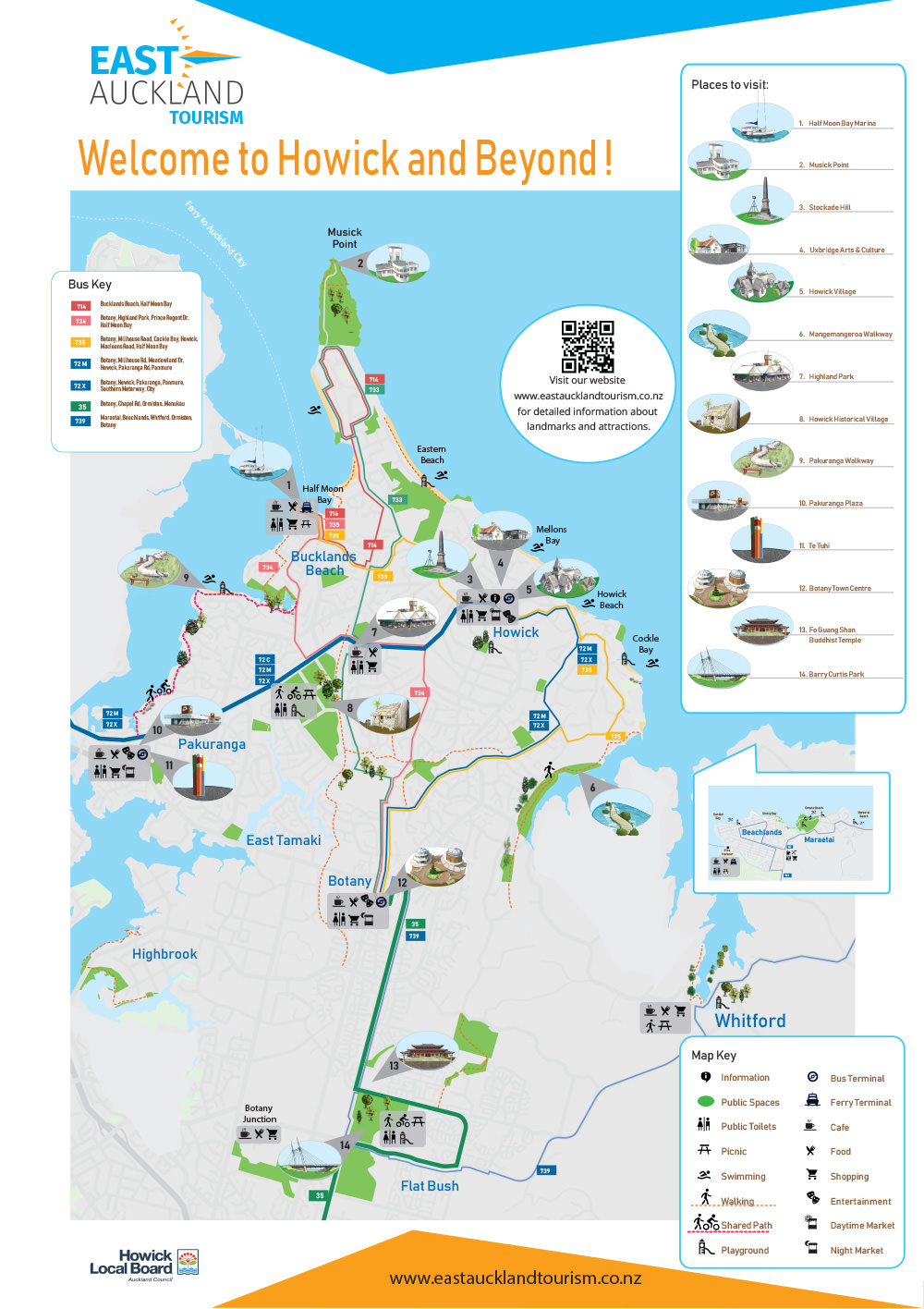 Discover East Auckland! - Map