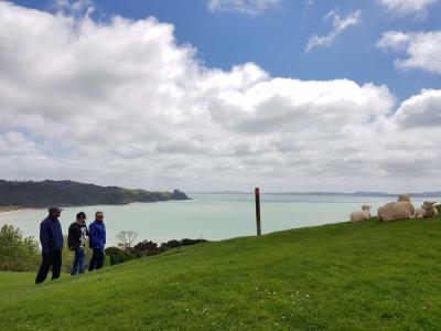 Farmland and coastal views