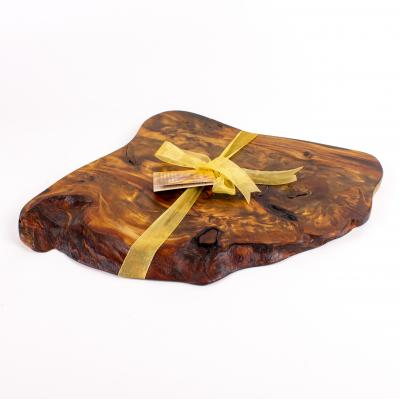 Rustic natural edge cheese board and knife sets made from 30