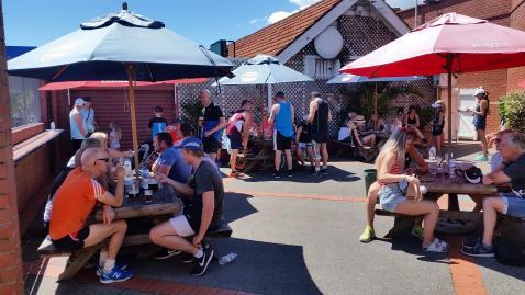 Point to Pub Run Bosuns courtyard
